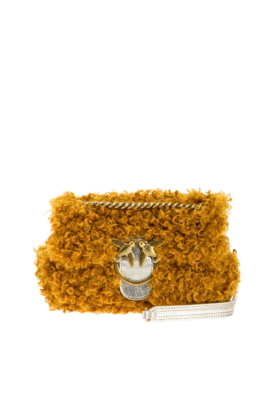 Mini Love Bag Puff Furry in Mongolian-effect faux fur - Pinko