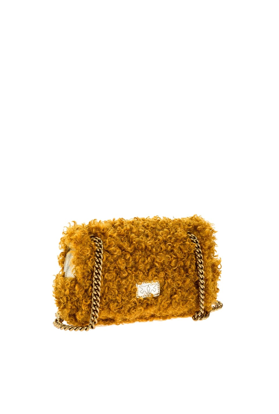 Mini Love Bag Puff Furry in faux fur effetto mongolia - Pinko