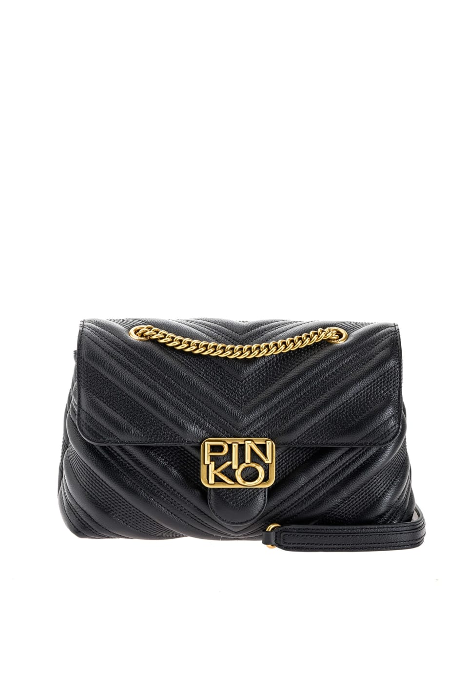Classic Logo Bag Puff Chevron in quilted leather - Pinko