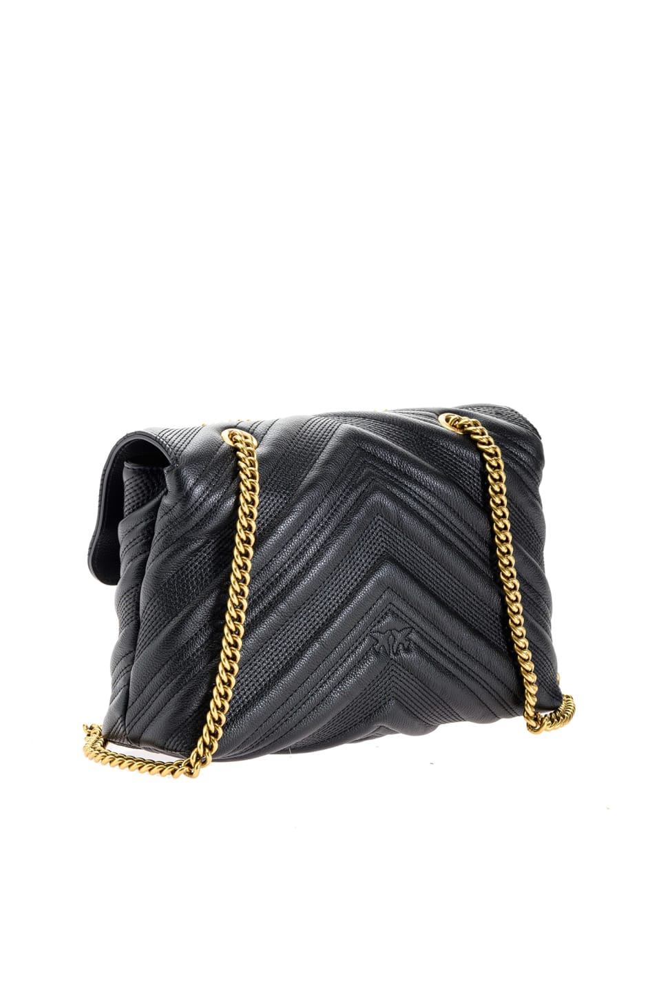 Classic Logo Bag Puff Chevron in quilted leather