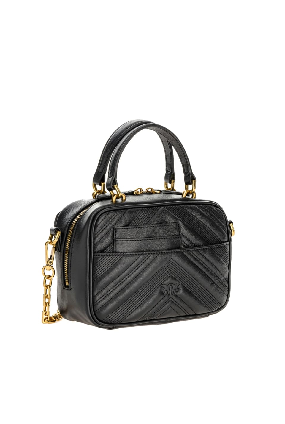 Mini Square Bag Chevron in leather - Pinko