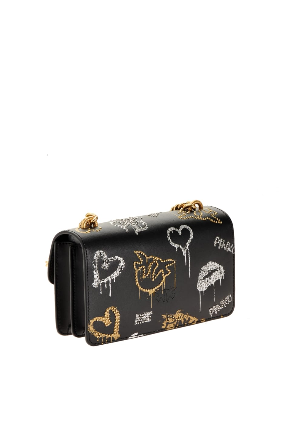 Mini Love Bag Icon Street Art with studs - Pinko