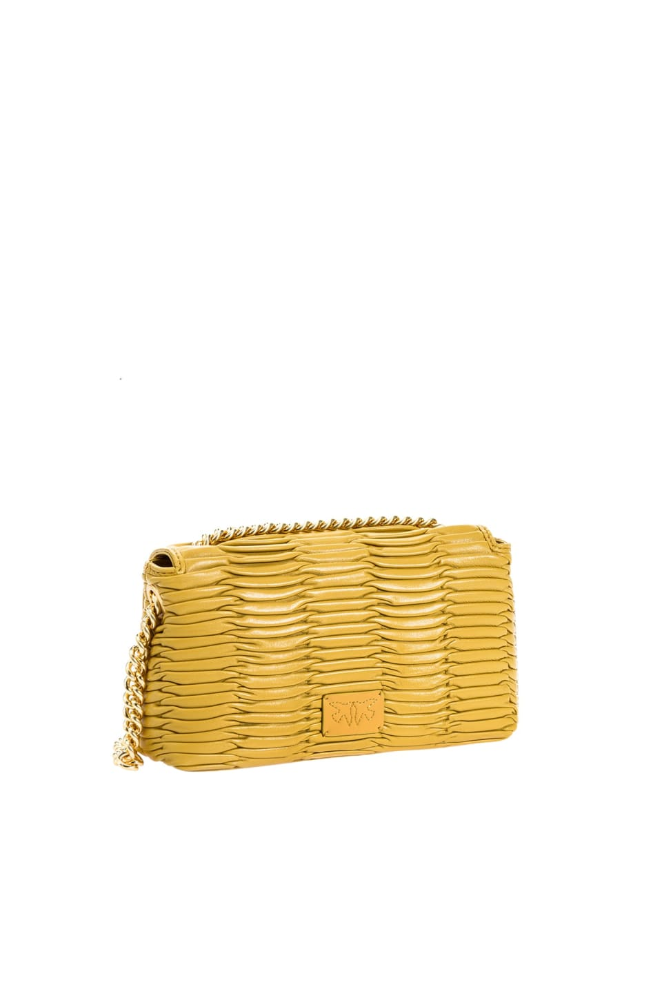 Mini Love Bag Puff Banana in origami-effect nappa leather - Pinko