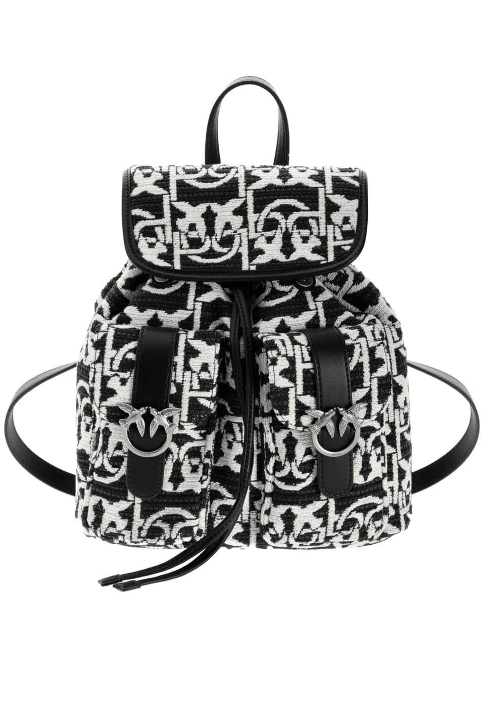 Mini Backpack Monogram jacquard - Pinko