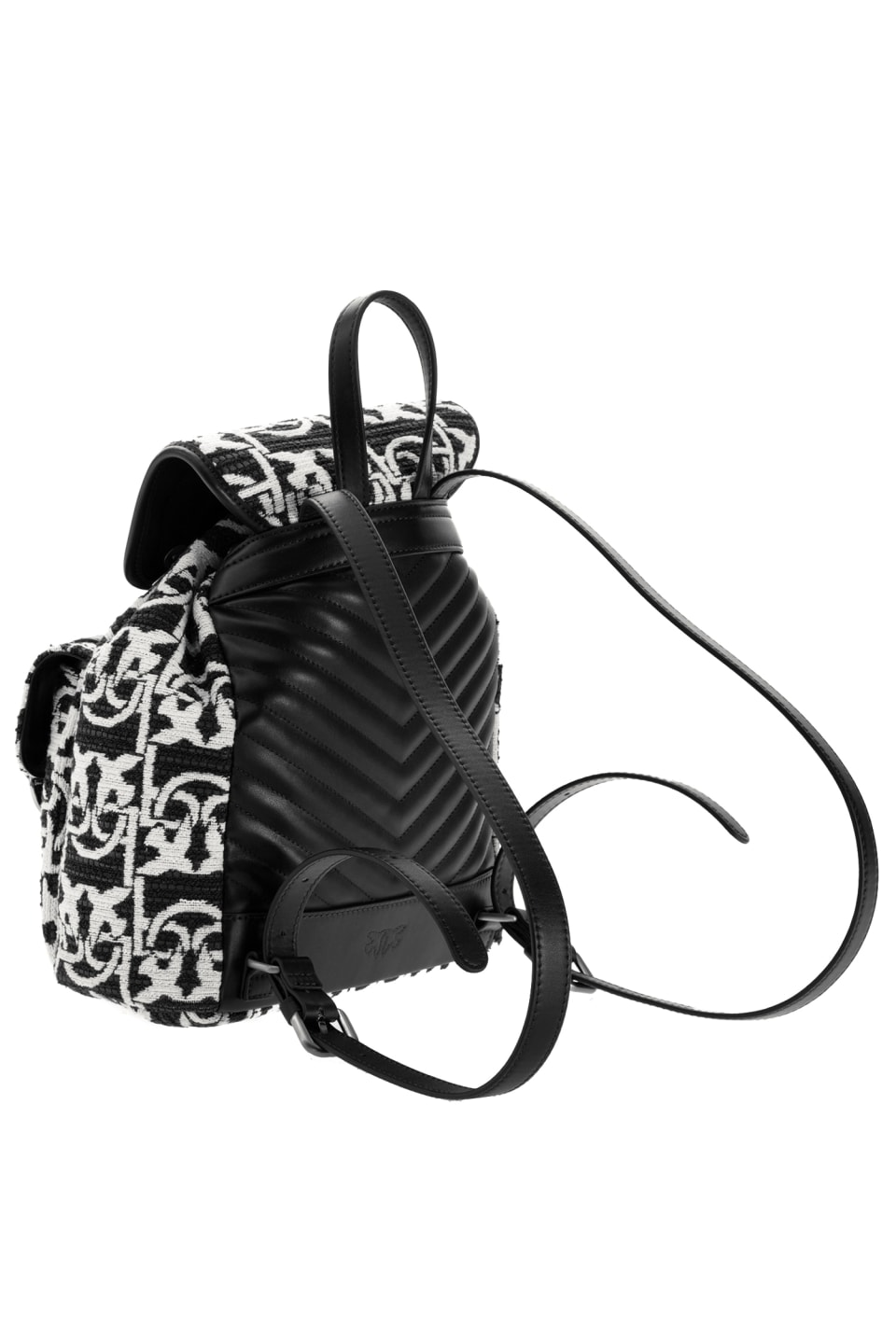 Jacquard Mini Backpack Monogram - Pinko