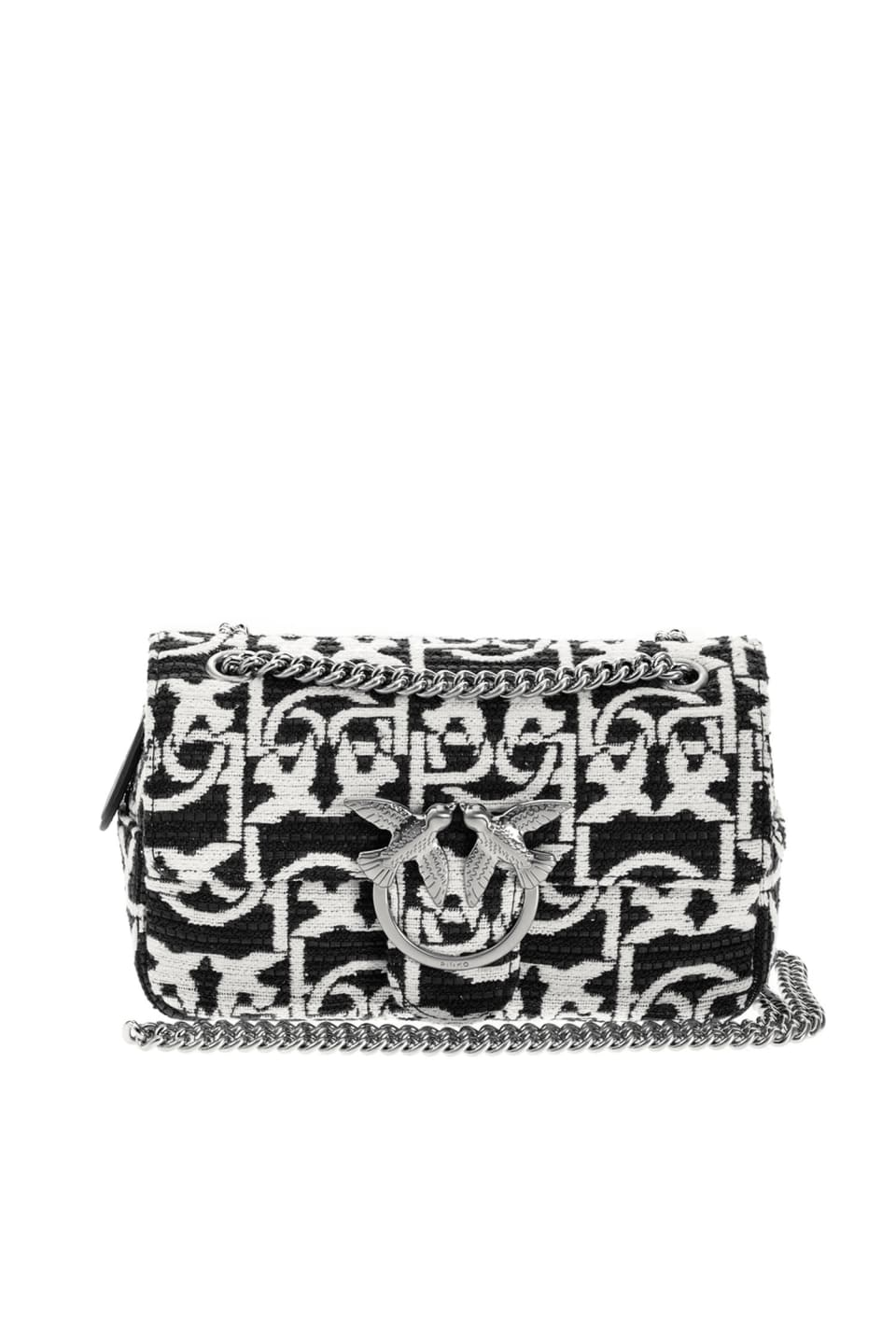 Mini Love Bag Puff Monogram in jacquard - Pinko