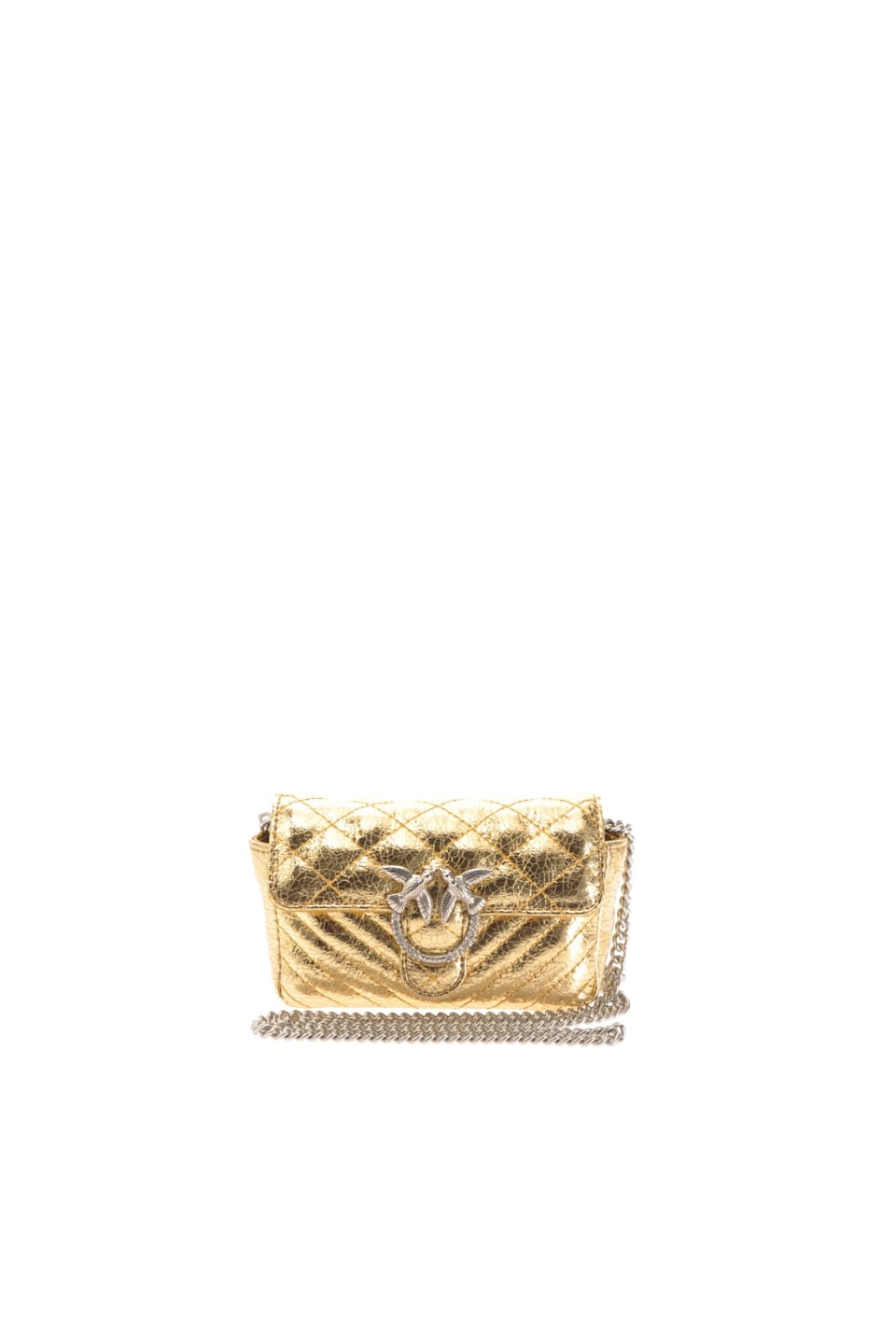 Tiny Love Bag V Mixy in laminated nappa leather - Pinko