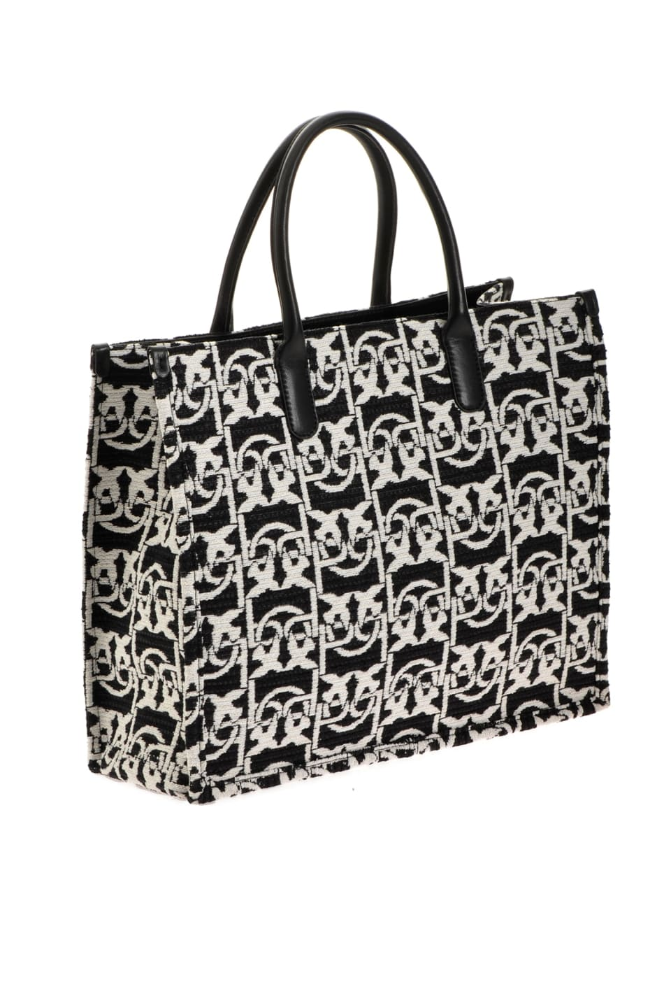 Love Bag Shopping Monogram in jacquard - Pinko
