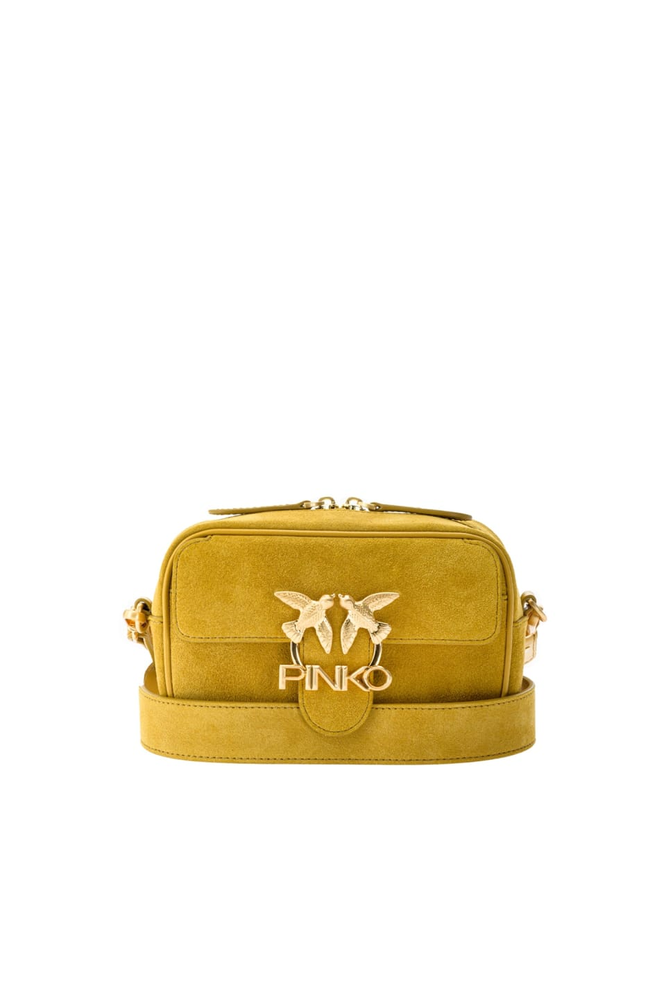 Baby Square Bag Seventies in suede and leather - Pinko
