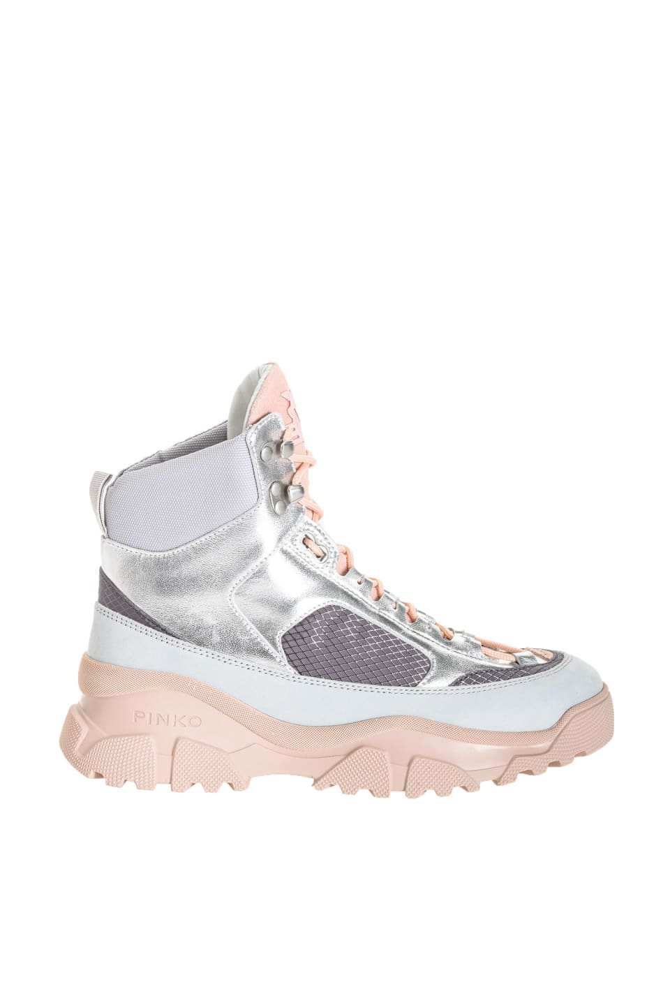 Laminated High Trek Sneakers - Pinko