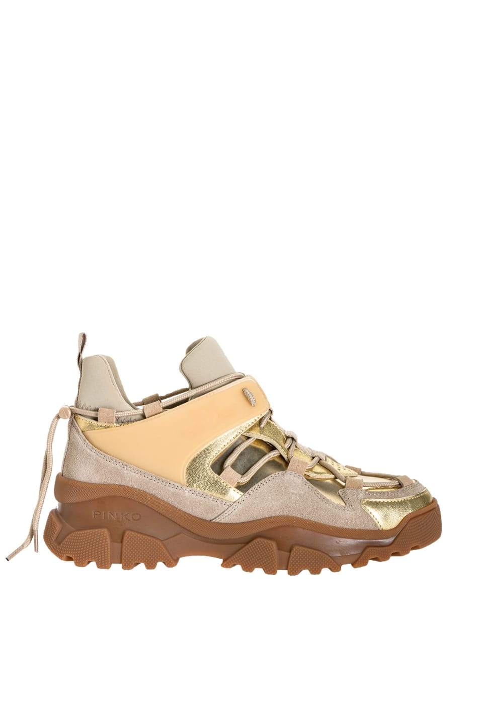 贴金属箔徒步运动鞋 - Pinko