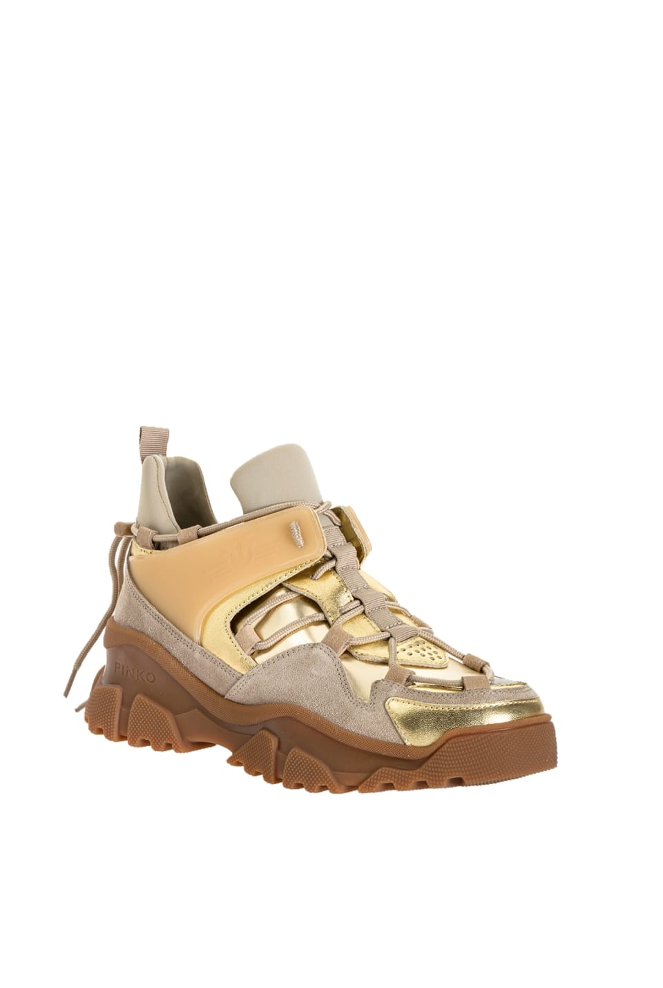 Laminated trek sneakers - Pinko