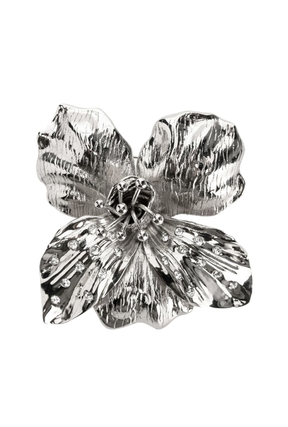Orchid brooch with crystals - Pinko