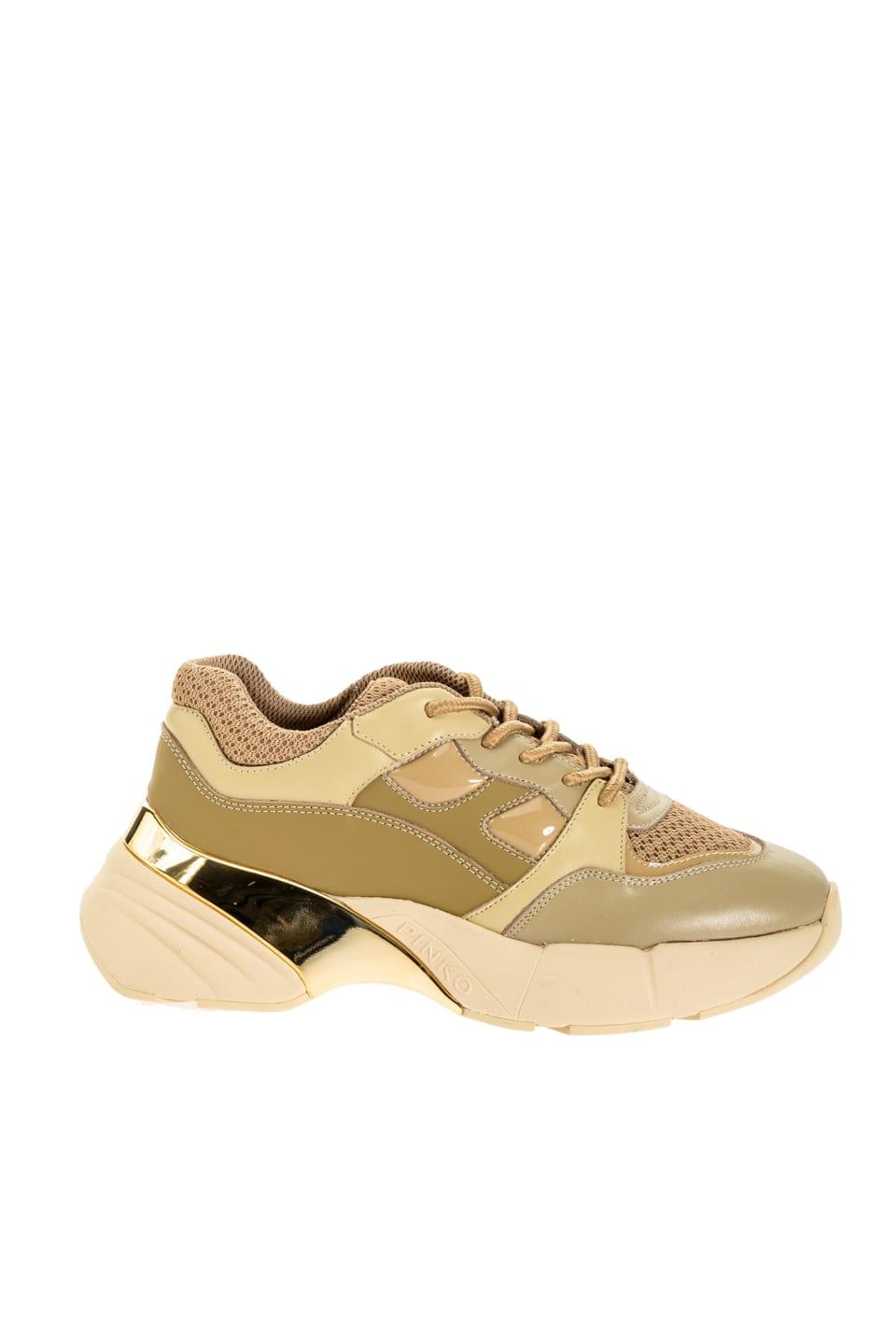 Einfarbige Oversize-Sneakers - Pinko