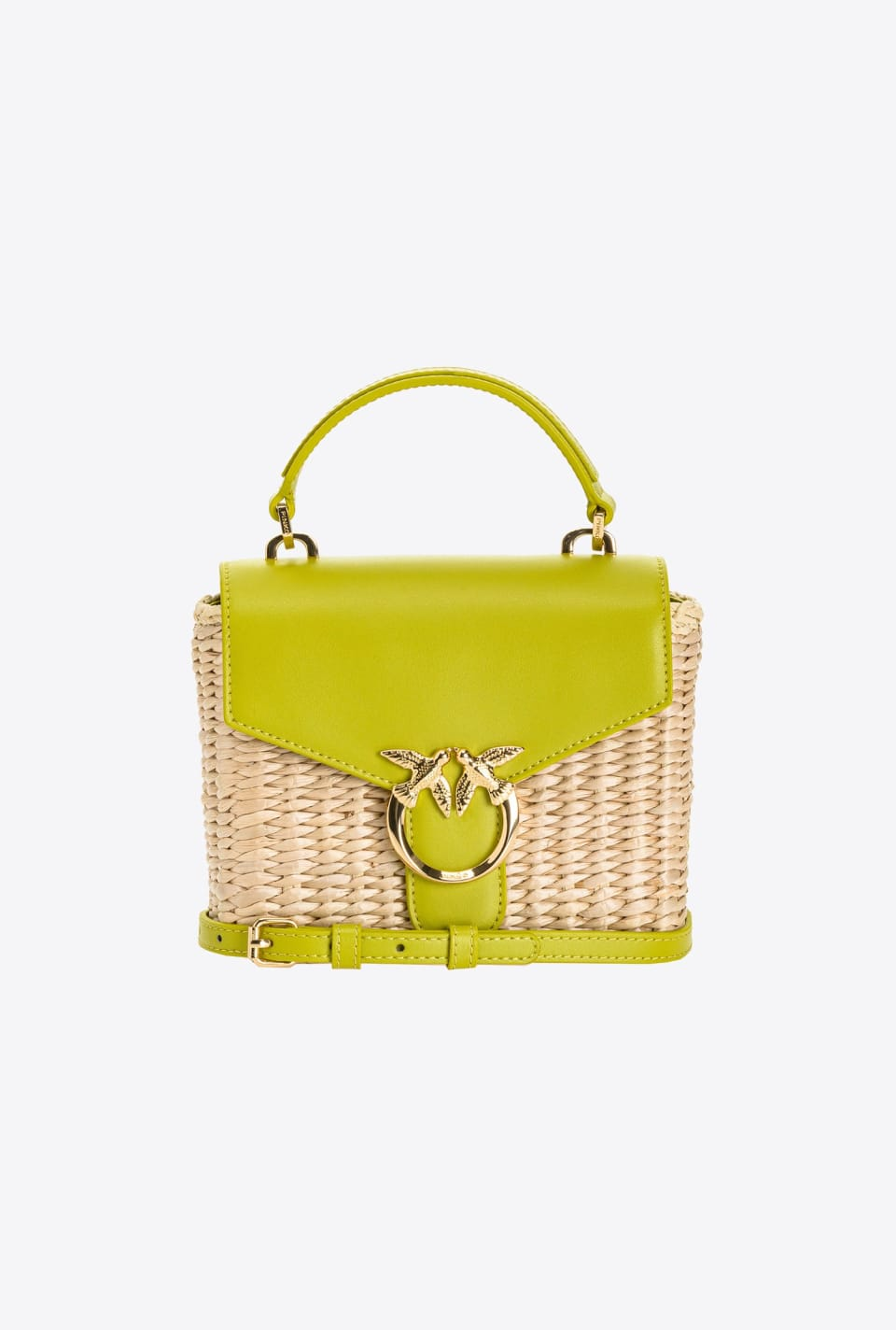 Mini Love Bag Top Handle en moelle de rotin - Pinko
