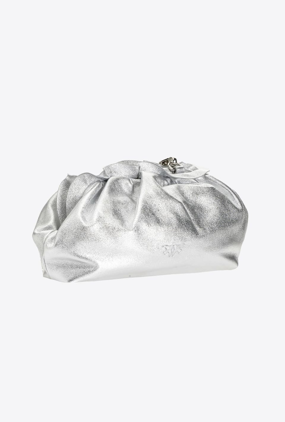 Laminated Mini Chain Clutch Bag Fraimed - Pinko