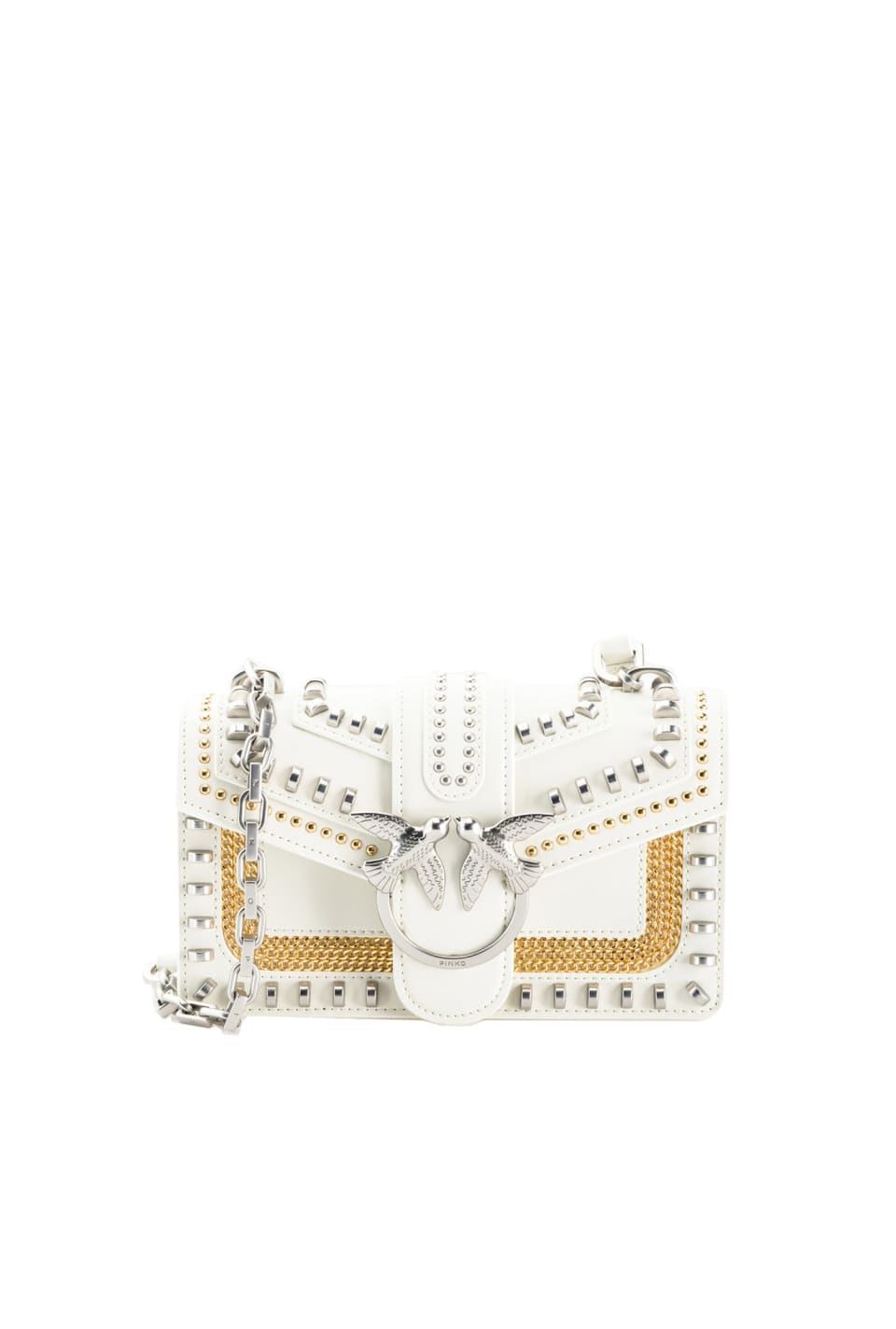 Mini Love Bag Mix Studs in leather - Pinko