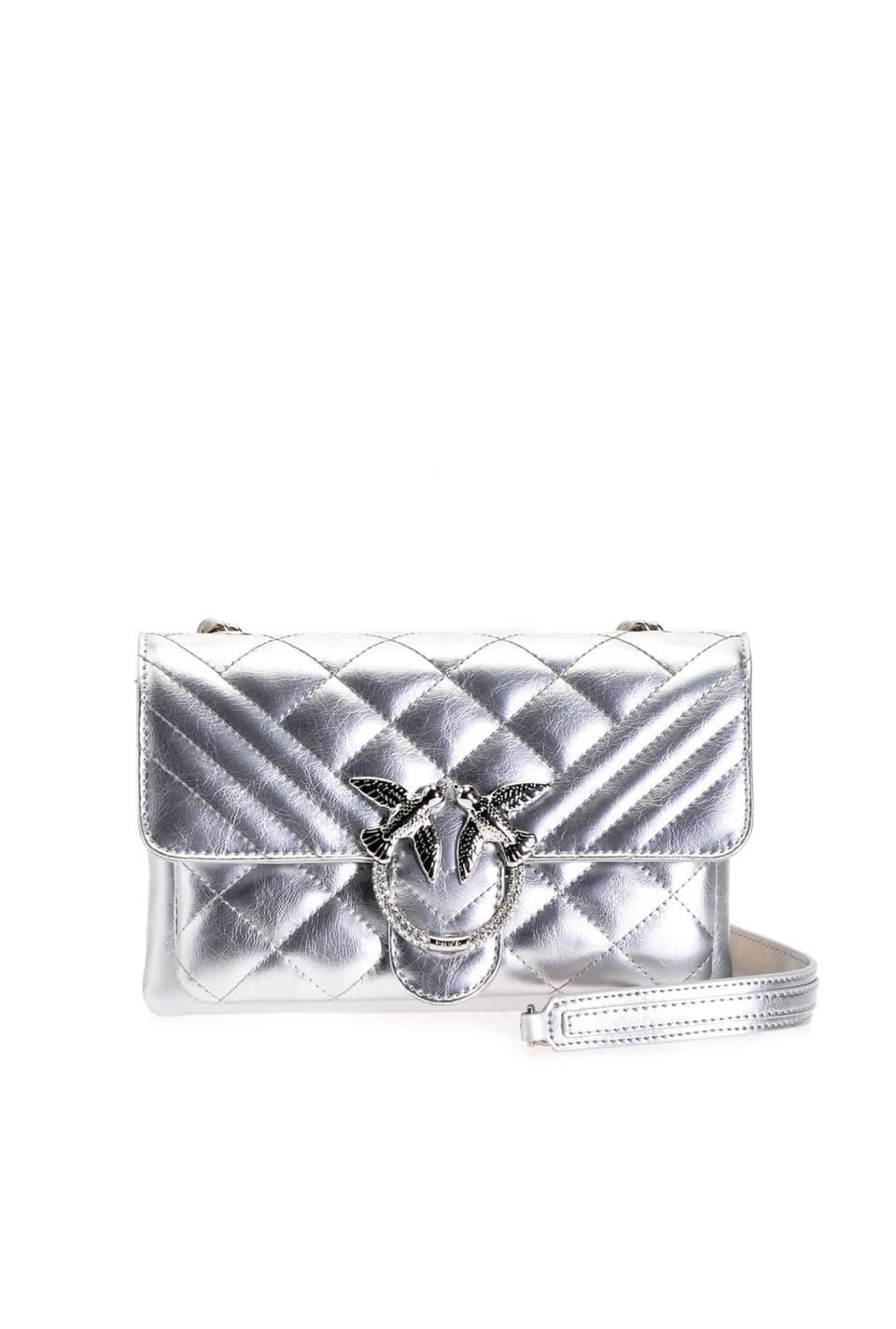 Laminated Mini Love Bag Soft Mix Shiny - Pinko