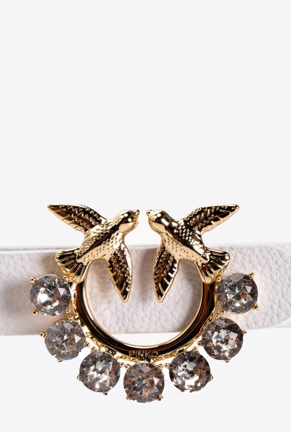 Love Birds Jewel narrow belt - Pinko