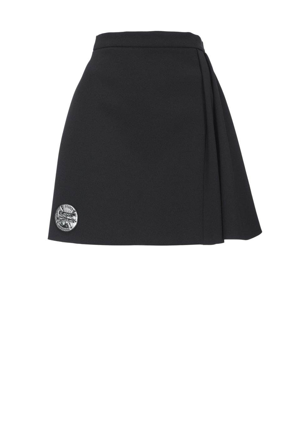 ボンデッド クレープ製 ミニスカート