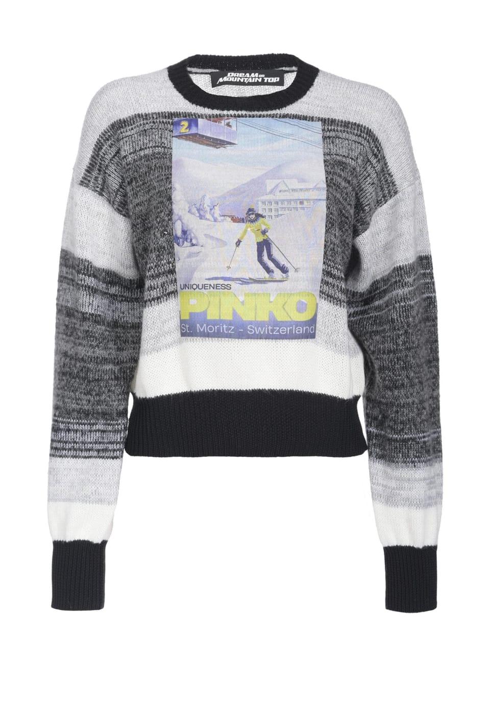 Mountain print pullover