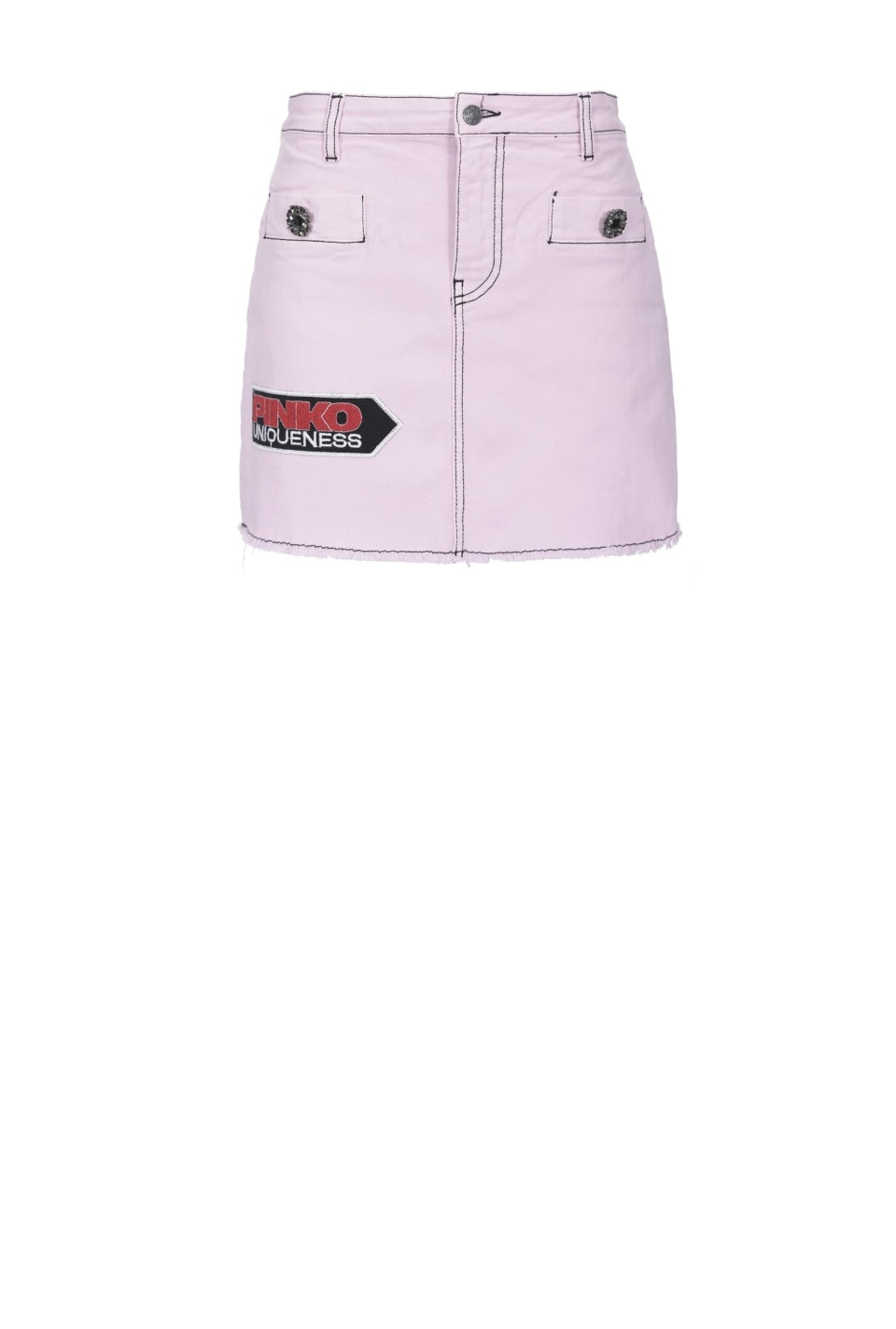 Mini skirt with patches