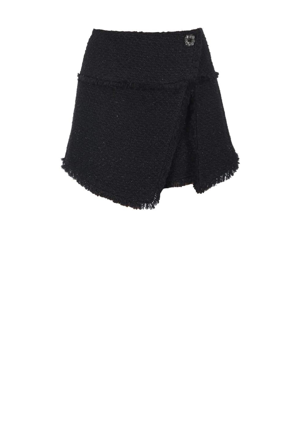 Shorts de esterilla de lúrex