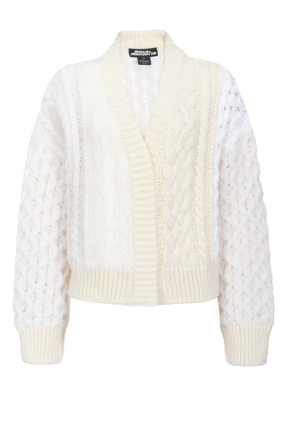 縄編みカーディガン