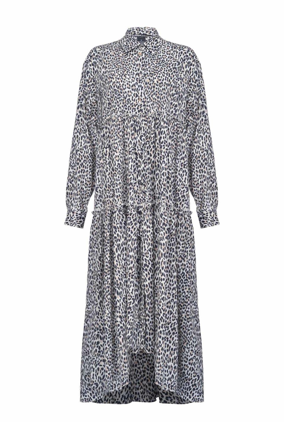 Maxi dress with mini spots
