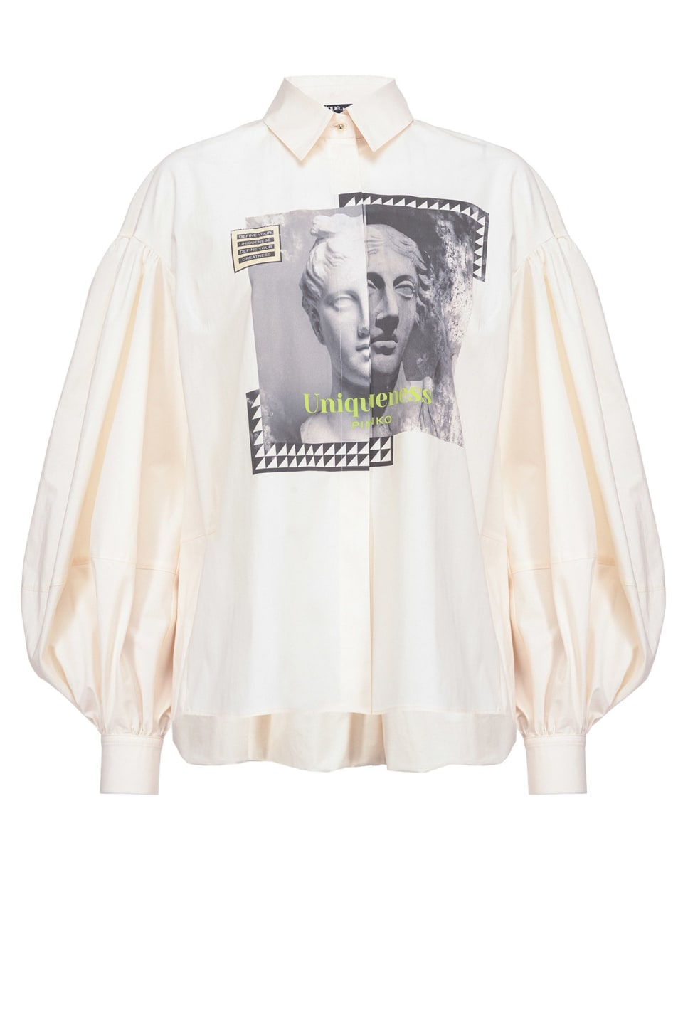 Oversized shirt with statue print