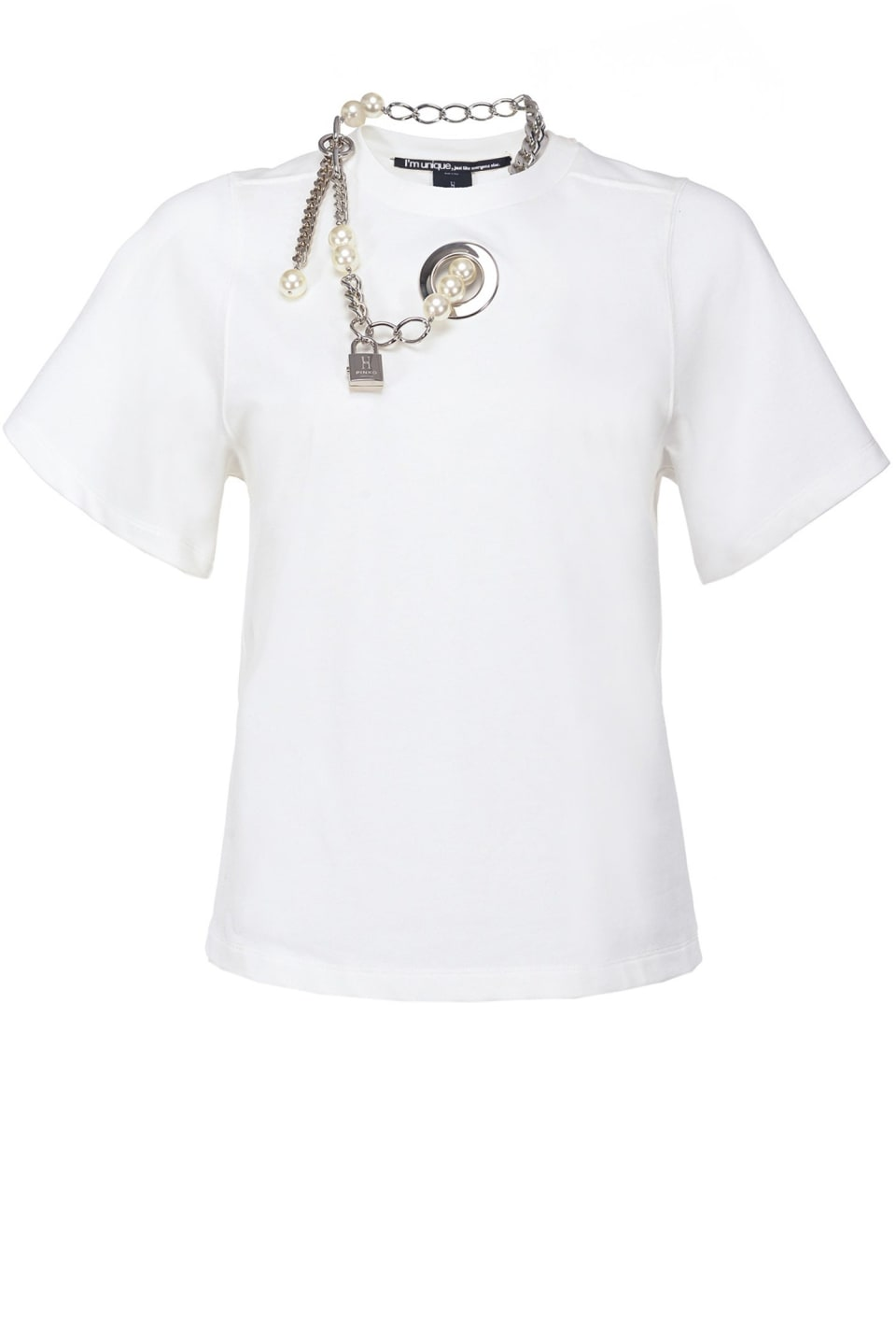 T-shirt with pearls