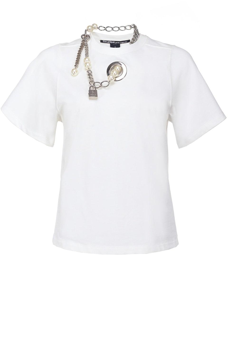 珍珠装饰T恤