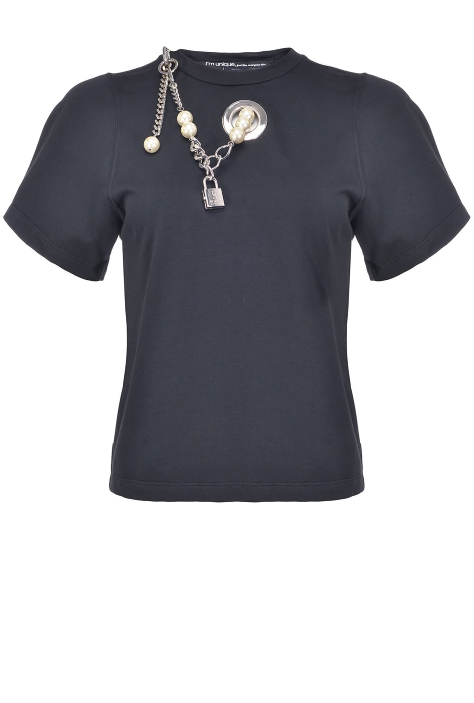パール装飾付き Tシャツ
