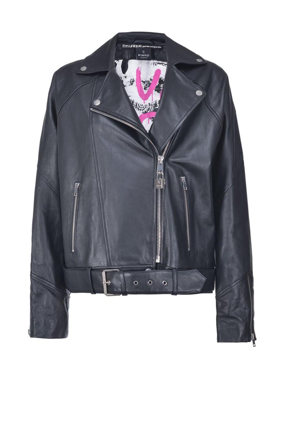 Biker jacket with padlock