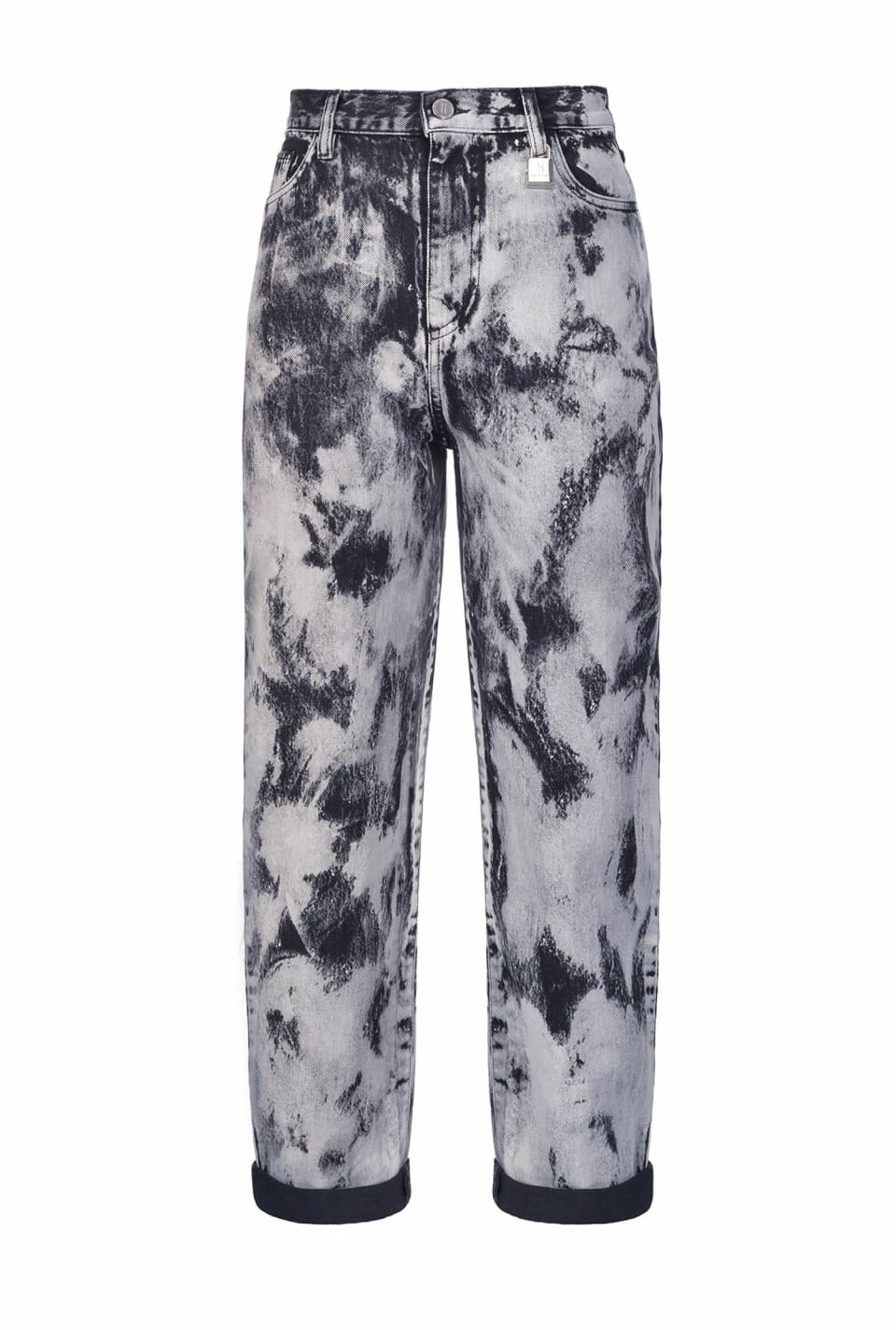 Marble-look trousers