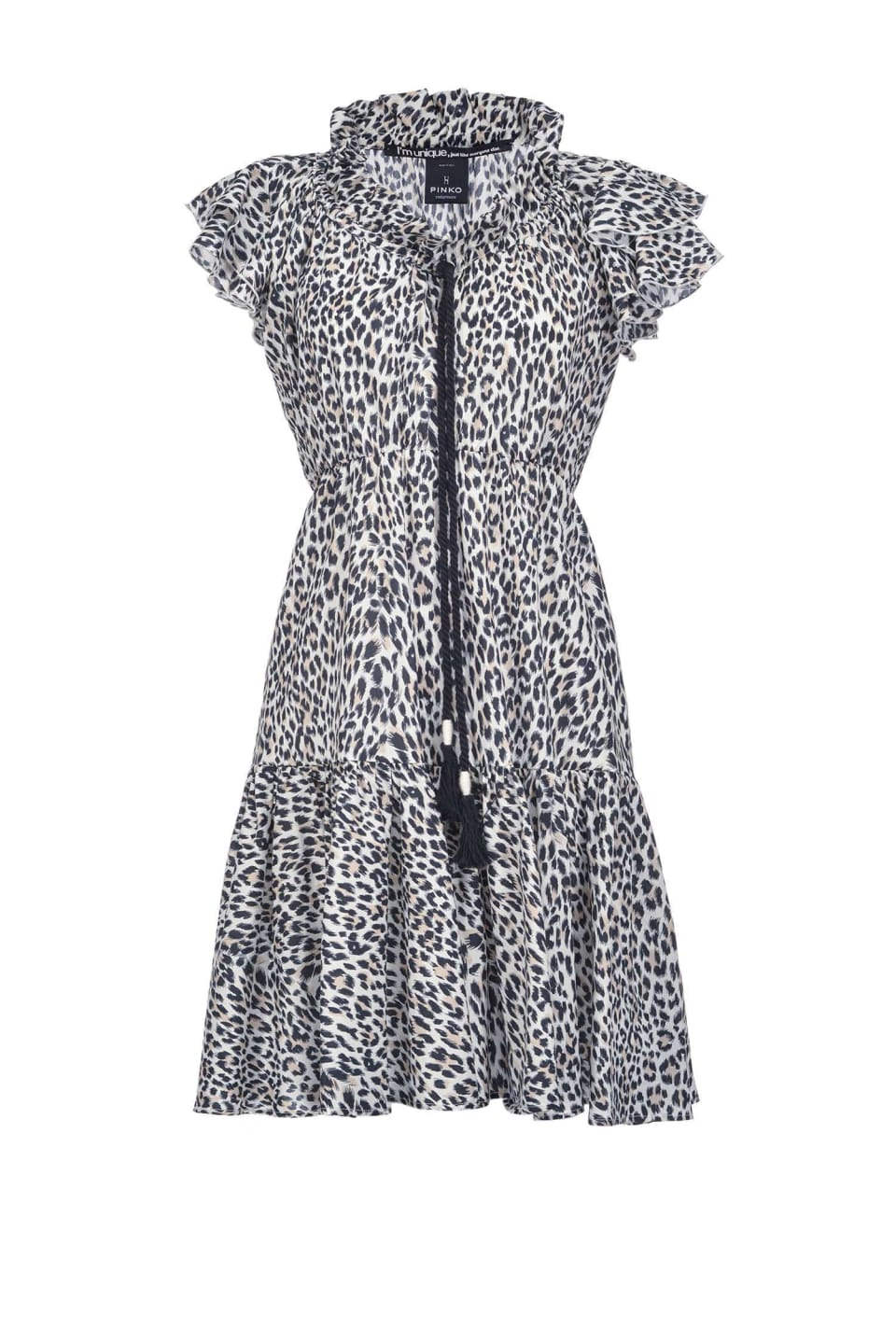 Dress with mini spots