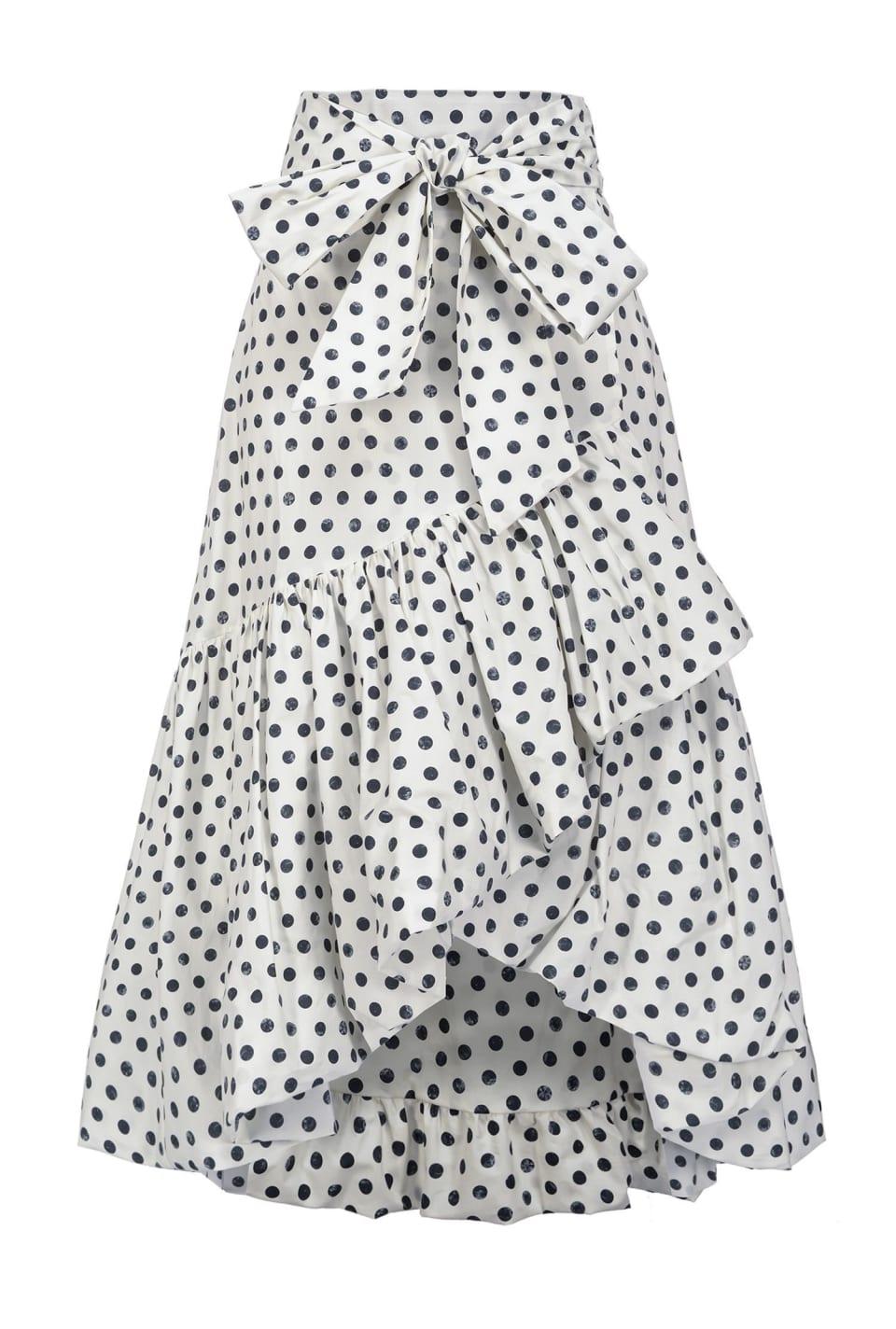 Long polka-dot skirt