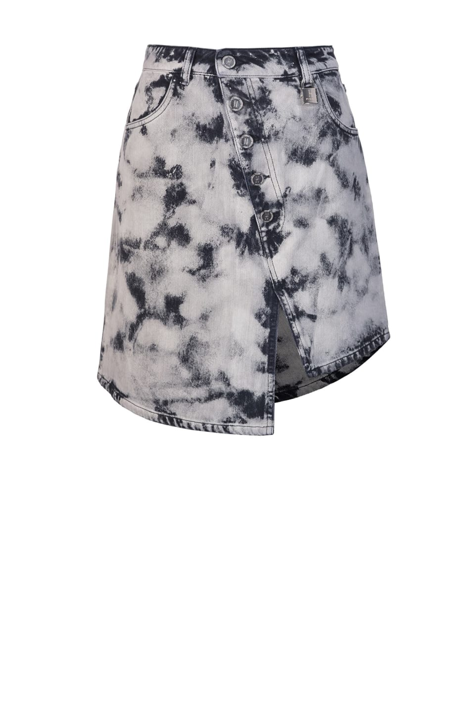 Marble-look mini skirt