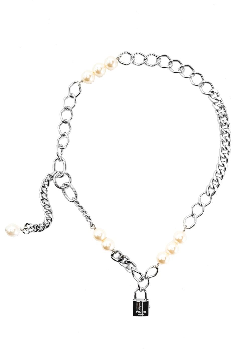 珍珠装饰链式腰带