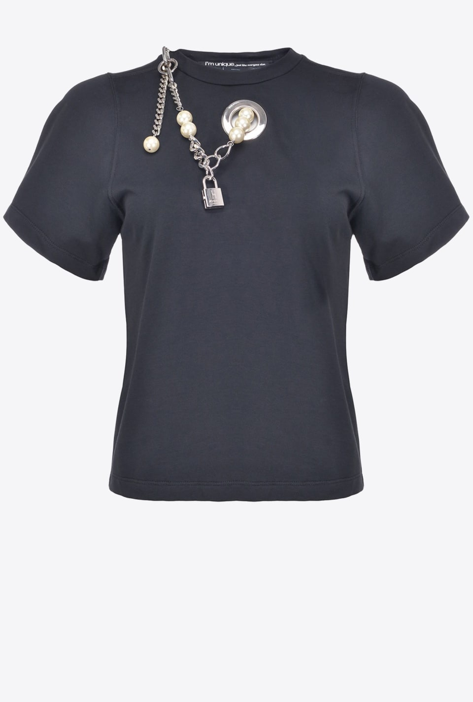 T-shirt with pearls - Pinko