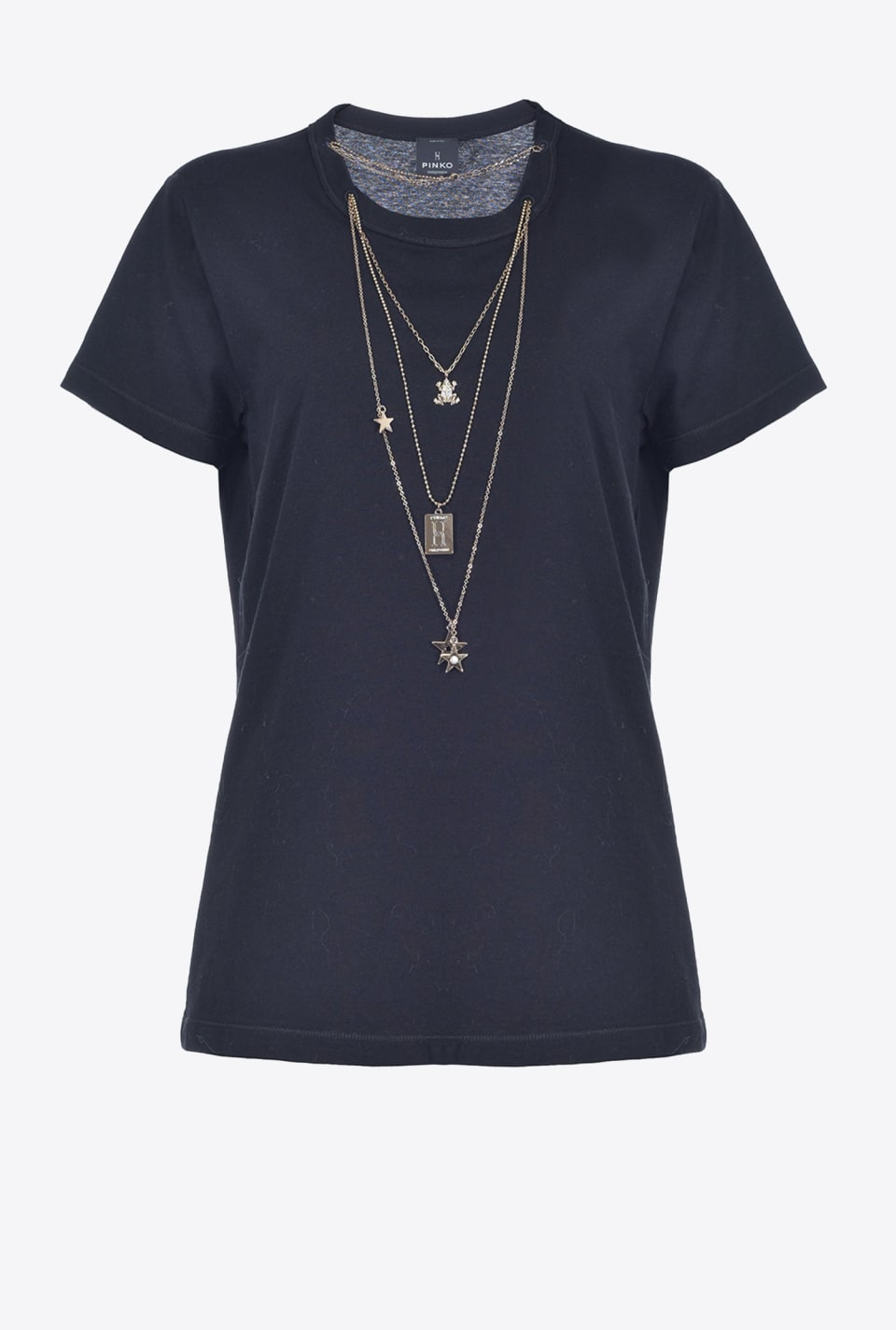 星形项链装饰T恤 - Pinko