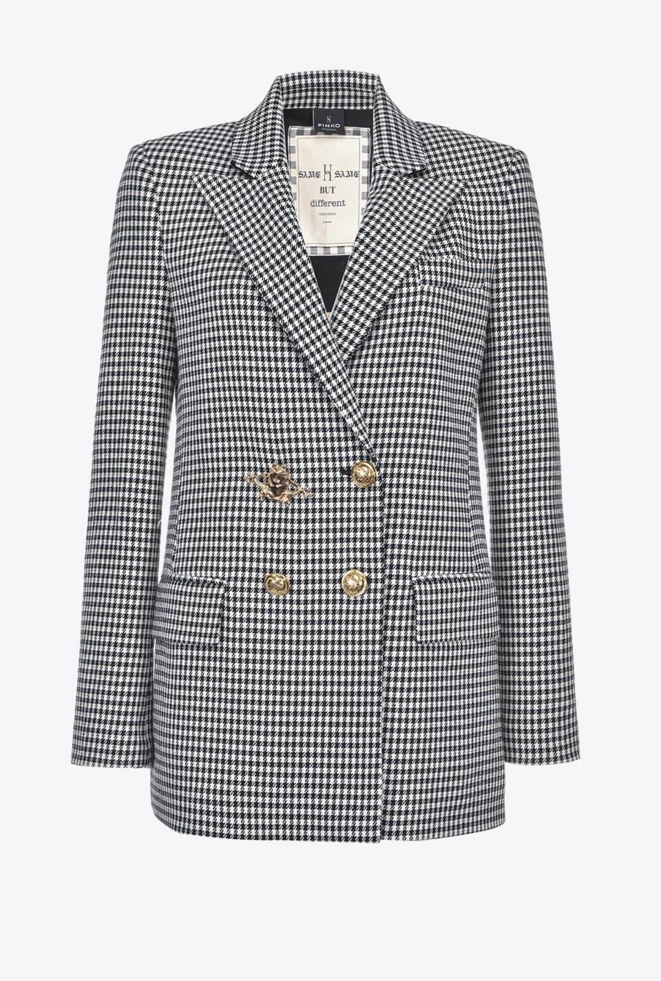 Vichy blazer with frog button - Pinko