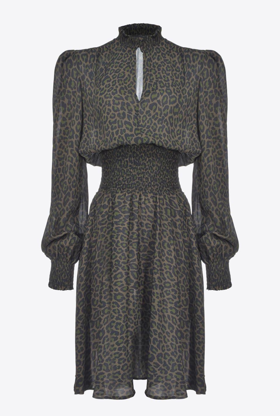 Leopard-print dress - Pinko