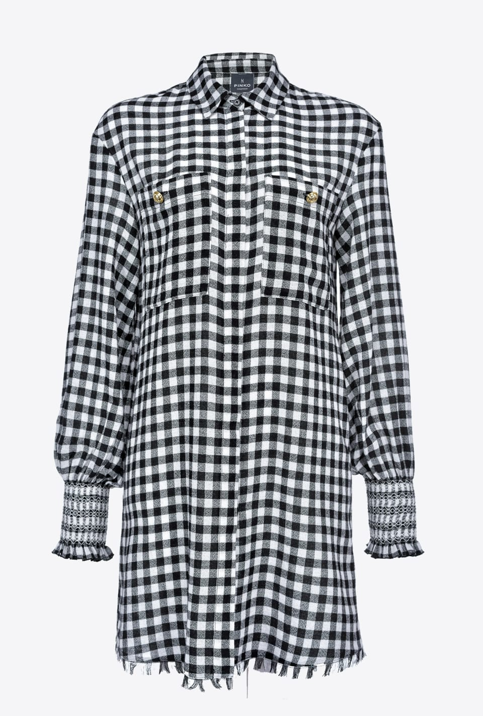 Vichy shirtwaister dress - Pinko