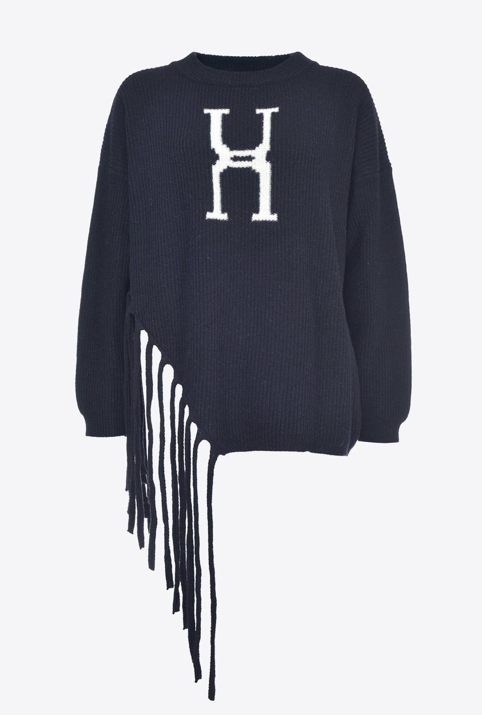 Pullover asimmetrico con frange - Pinko