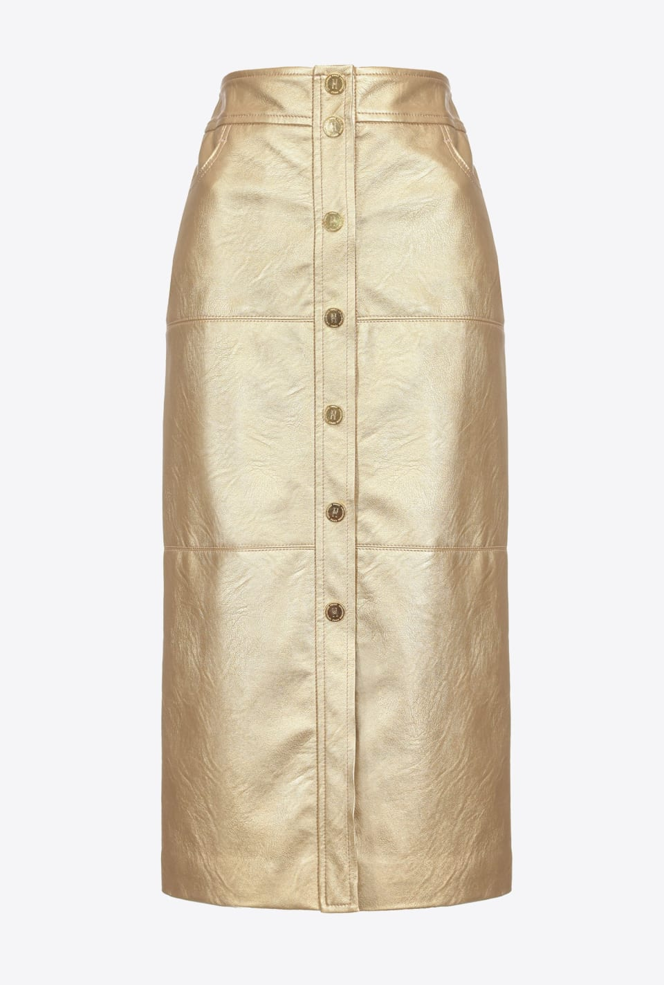 Midi-length laminated skirt - Pinko