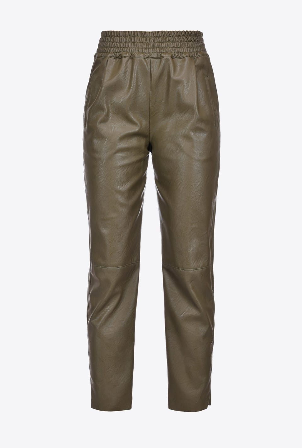 Leather-look trousers with darts - Pinko