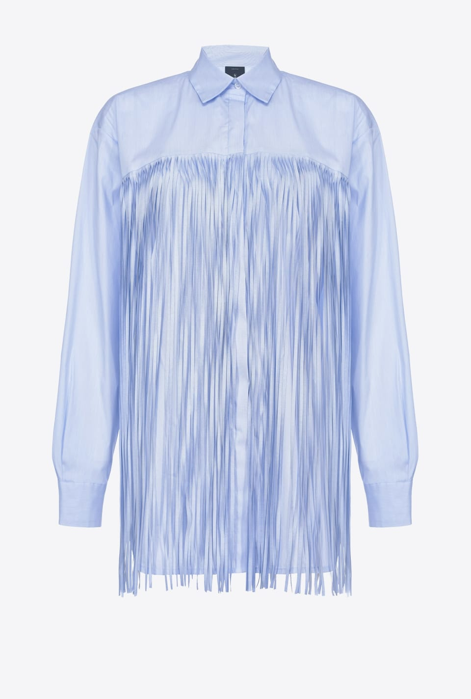 Oversized shirt with maxi fringes - Pinko