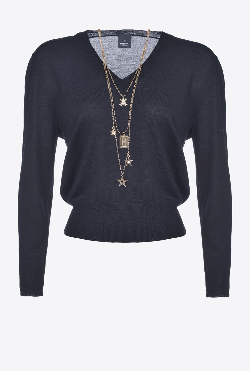 Pullover with star necklace - Pinko