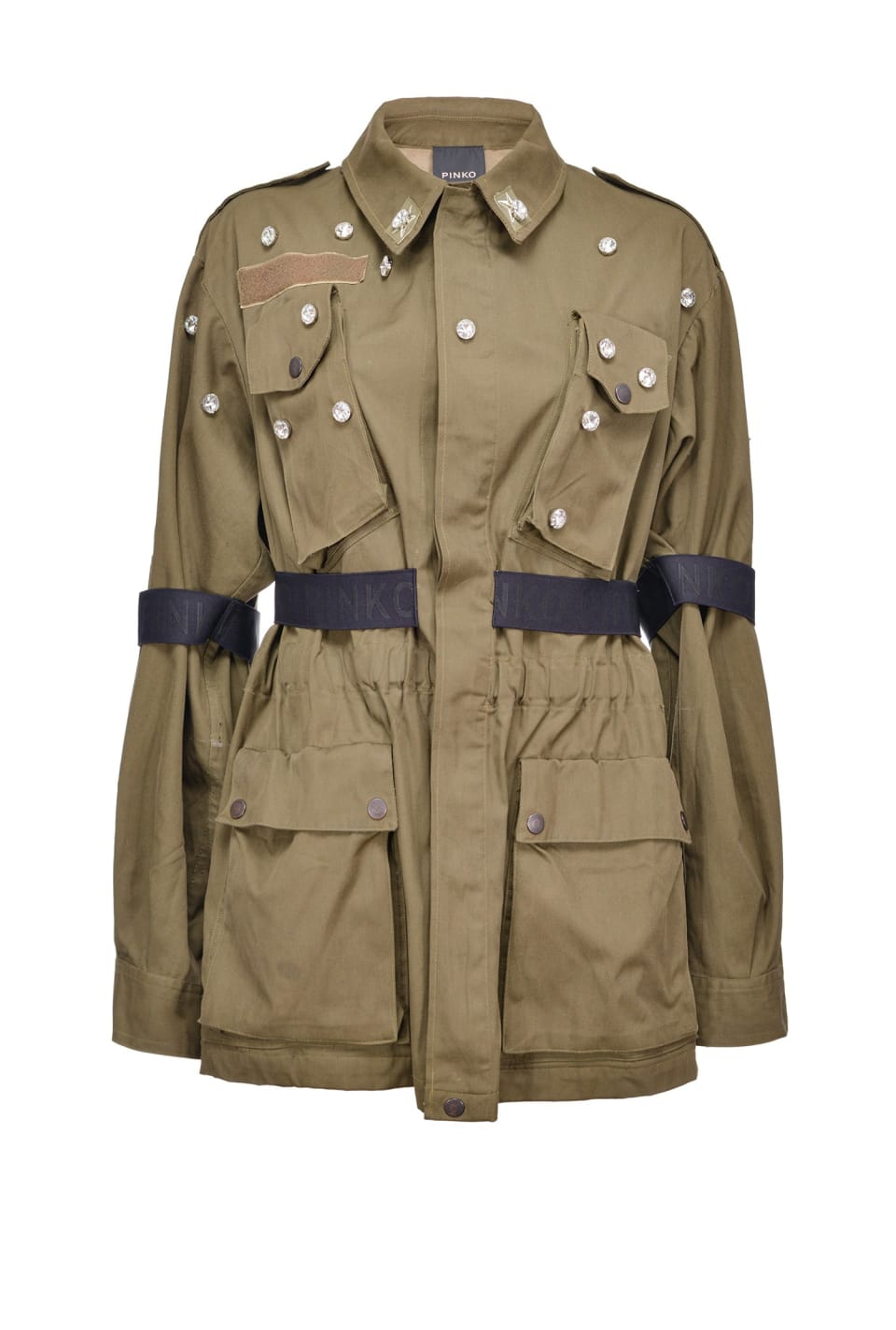 REIMAGINE ribbon field jacket - Pinko